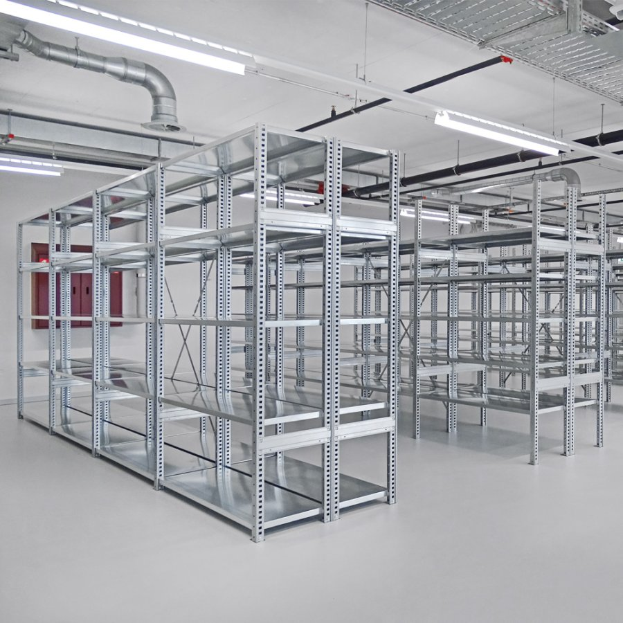 Art storage system equipped with shelf racks